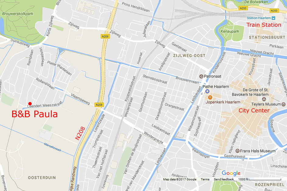 Where is BB Paula Bed and Breakfast Haarlem near Amsterdam The